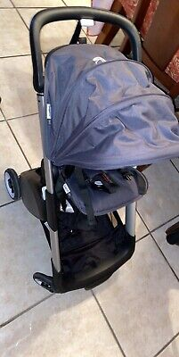 NEW IN BOX Bugaboo Ant Complete Travel Compact Stroller - Steel Blue
