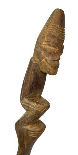 Vintage TAINO Wooden Carved Wood ZEMI God Figure Vomit Purge Spatula Ritual Tool