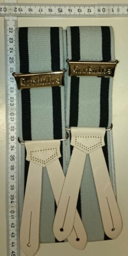 HERKULES  suspenders   Made in Germany  grey/black  Preussen size Extra Large