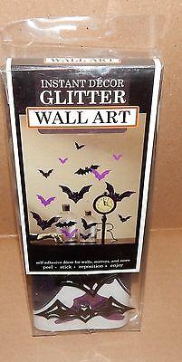 Ea Halloween (Halloween Dimensional Wall Art 5ea Bats Purple 27 x10