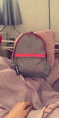 Nike Just Do It Mini Backpack In Pink And Grey