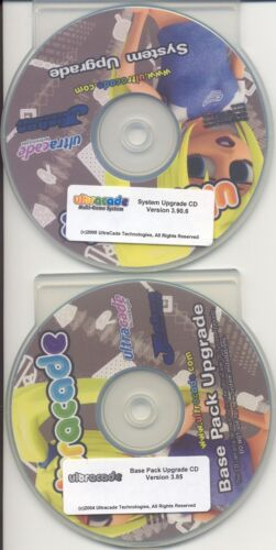 Ultracade 3.90.6 System Upgrade CD with 3.85 Base Pack CD, tested working