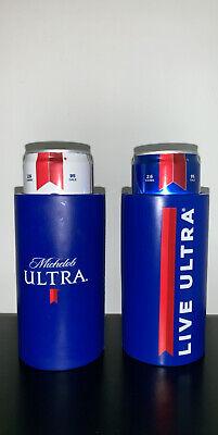 2 New Michelob Ultra LIVE ULTRA Golf Cart Slim Can Coozie Coolie Koozie