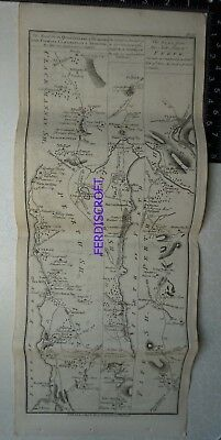 1776 Taylor & Skinner Strip Map Queensferry, Stirling, Linlithgow, Perth