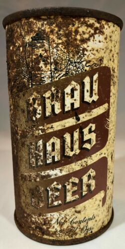 Brau Haus Beer IRTP Opening Instruction 12 Ounce Flat Top Beer Can