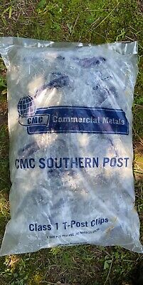 Cmc Commercial Metals Steel Post T-post Fence Clips Bag Of 1000 Pieces