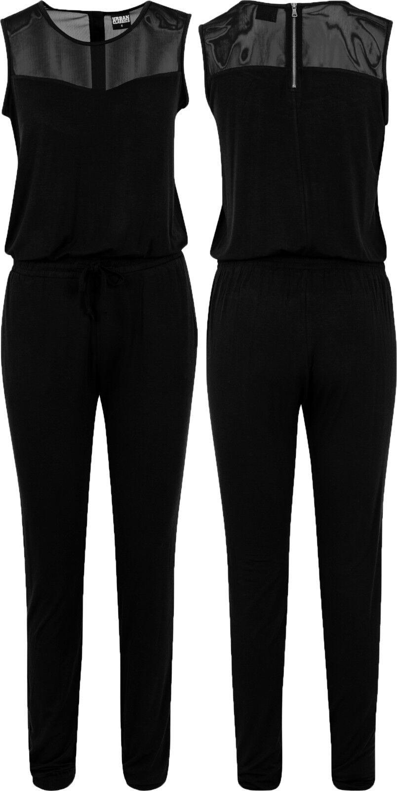 urban classics damen overall jumpsuit einteiler lang damen overall schwarz 1630 ebay. Black Bedroom Furniture Sets. Home Design Ideas
