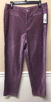 Liz Claiborne Purple Velvet Women Pants Size 14  New With Tags