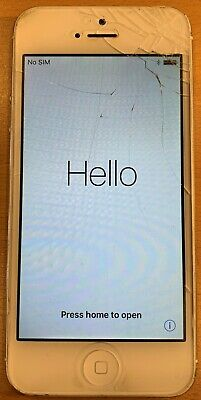 Apple iPhone 5 - 16GB - White & Silver (Unlocked) A1428 (GSM)