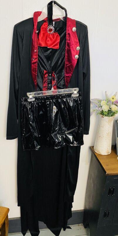 Womans Victorian Witch S Costume 4 Pieces Cape, Top, Choker Shorts Velvet NWOT