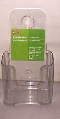 Staples Brochure Holder 16660 Clear Tabletop Or Wall Hanging