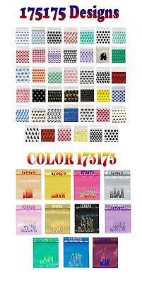 100 175175 Design Color Lot Apple Mini Ziplock Baggies 50 Designs 50 Colors