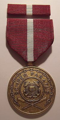 U.S. Coast Guard Good Conduct Medal with RIBBON 2nd Style Reverse