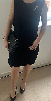 Versus Versace ORIGINAL black dress. ABITO DONNA TESSUTO. Size UK 12. Worn once