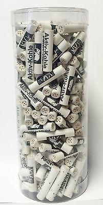 PFEIFEN-FILTER 200 !!!! WHITE ELEFANT Aktivkohle Filter 9 mm Klar-Box( 1061 )