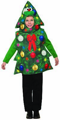 Christmas Tree Costume (Funny Christmas Tree Costume Child Costume One Size Hooded Tunic)