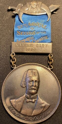 Masonic Medal Lu Lu 27th Annual Session of the Imperial Council Kansas City 1901