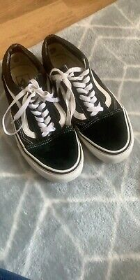 Womens Black And White Vans Size 5.5 Worn