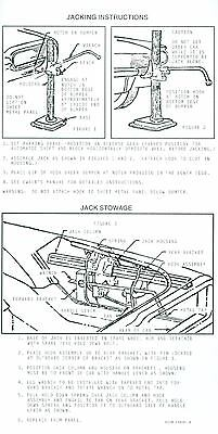 1966 Ford Thunderbird Jack Instruction Decal