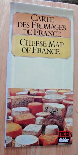 Recta Foldex Cheese Map of France showing 257 varieties & Wines to go with them