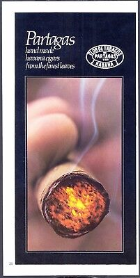 PARTAGAS Handmade HAVANA CIGARS. Original 1970s ADVERTISEMENT (NOT Repro!)
