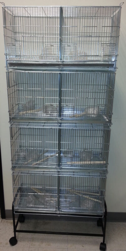 Large Galvanized CAMBO-4 of Bird Finches Canary Breeding Breeder Cages W/Stand