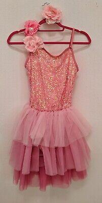 Weissman Pink Sequined Lace Tutu Dress Ballerina Fairy Costume Dress Up XLC
