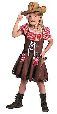 Cowgirl Kostüm Mädchen (Cowgirl Denise Kind Gr. 104-140 Mädchen Kostüm Western Girl Fasching Karneval)