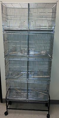 4 tier bird cage Parakeet Canary Finch small bird #2421 w/stand 4107 BLK-555