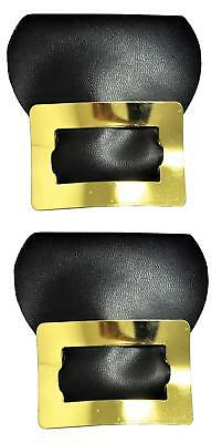 GOLD SHOE BUCKLES COLONIAL PILGRIM WITCH SHOE COSTUMES ACCESSORY BB221GD - Colonial Shoe Buckles