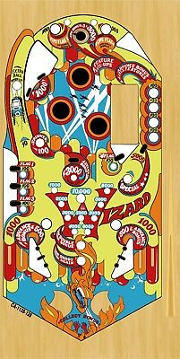 BALLY WIZARD Pinball Machine Playfield Overlay