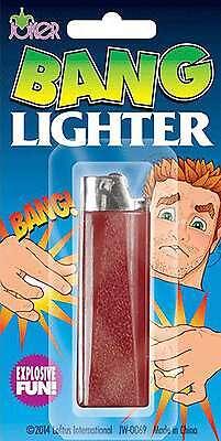 EXPLODING BANG FAKE LIGHTER FUNNY JOKE TRICK BOYS TOY CHILDRENS PRANK GIFT