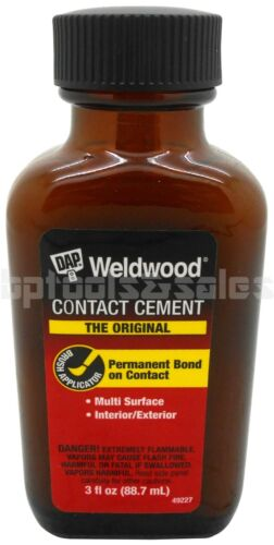 DAP Weldwood Contact Cement Rubber Cement High Strength 3oz Permanent Bond 49227