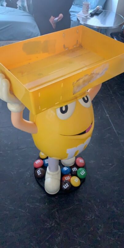 LARGE  M&M YELLOW Character Candy Store Display with Storage Tray