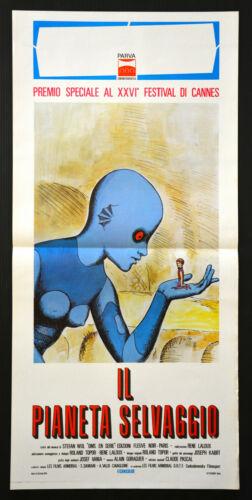 FANTASTIC PLANET Italy playbill 1974 La Planete Sauvage wild sci-fi cartoon art