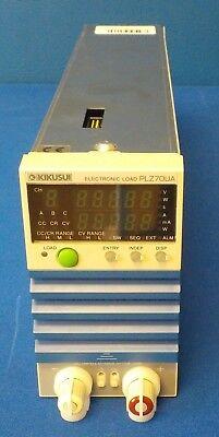 Kikusui Plz7oua Electronic Load Unit 0v - 150v 15a 75w Plz-7oua