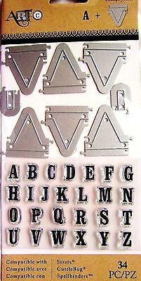 Pennant Alphabet Stamp And Die Set By Momenta Art C 25900 New