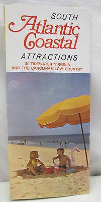 Vintage Brochure South Atlantic Coastal Attractions Tidewater Virginia Carolina