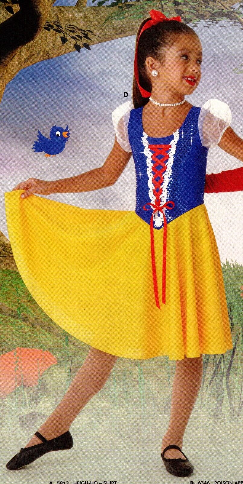 Snow White Dance Costume Girls Sizes Great For Dressup Or...