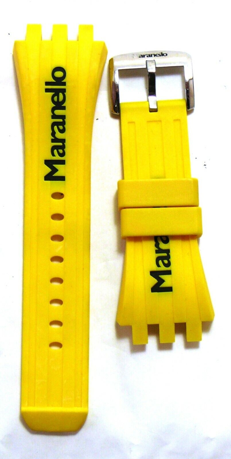 Maranello Rubber Watch Strap with Buckle yellow NEW #36243
