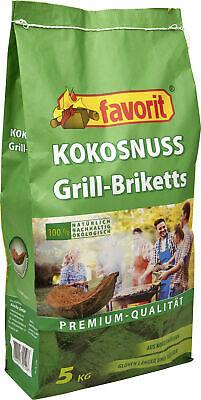 Favorit Kokos Grillbriketts 5kg Grillkohle Briketts Grillkohlebriketts Kokosnuss