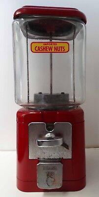 Acorn 1c Gumball Machine Imported Cashew Nuts Circa 1950's
