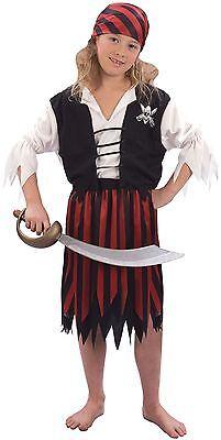 Piraten Mädchen, XL, Kinder Kostüm Kostüm, Kinder Buch - Buch Kostüm Mädchen