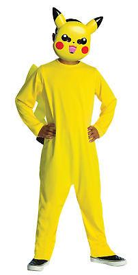 Pikachu Yellow Child Costume Pokemon Jumpsuit Attached Tail Halloween (Yellow Jumpsuit Halloween Costume)