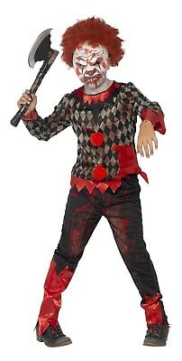 SMIFFY 44293 Zombie Deluxe Killer Clown Karneval Halloween Jungen Kostüm - Jungen Killer Clown Kostüm