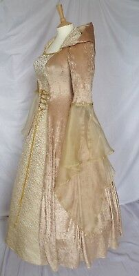 Medieval Hooded Wedding Dress Renaissance Gown Pagan Custom made to size