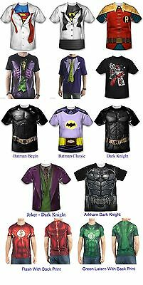 Authentic Dc Comic Adult Men T-Shirt Costume S, M, L, XL, 2XL