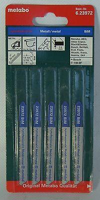 Stichsägeblätter 5 Metabo für Metall 50 / 1,5 mm Professional  gefräst / gewellt