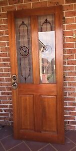 Solid core stained glass panel front door Narellan Vale Camden Area Preview