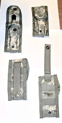 (4)  NEW Molle 9MM Single Magazine Pouch ACU ARMY Surplus Digital Camo Utility